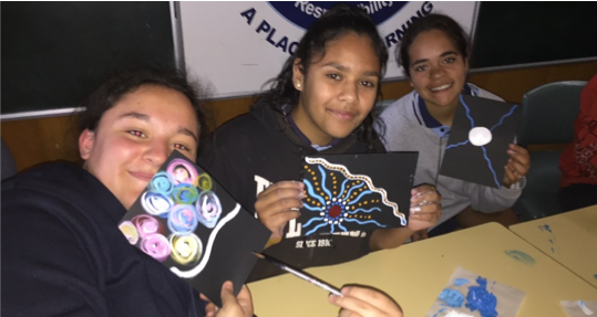 Students taking part in the Indigenous Careers Program.